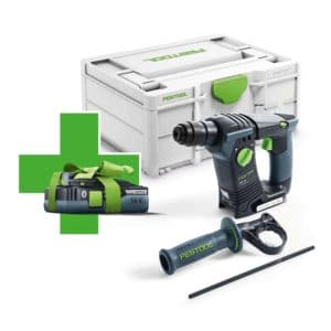 Festool Borrhammare BHC 18 Basic-Promo 2021 med ett HighPower-batteri BP 18 Li 4,0 HPC-ASI 577057